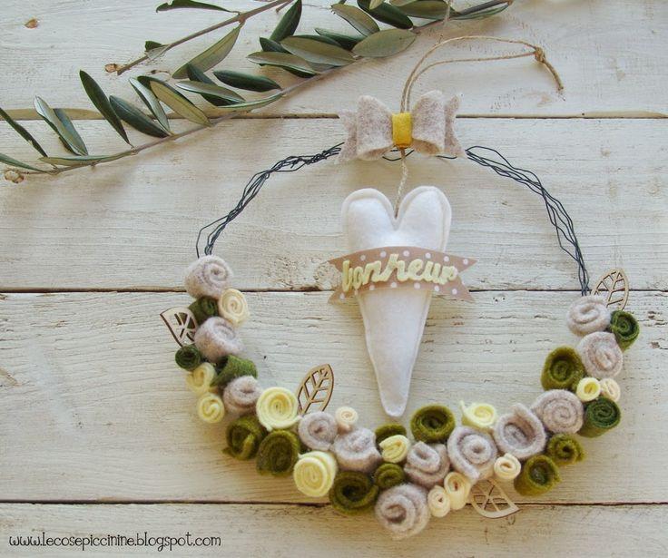 Le cose Piccinine - Recycled Felt Wreath