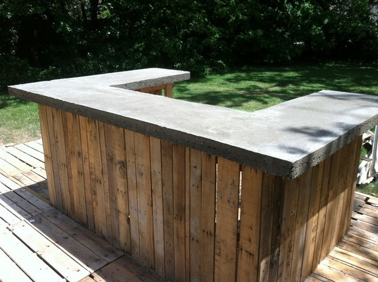Outdoor Patio Bar Ideas Concrete Bar Top On My Outdoor Bar