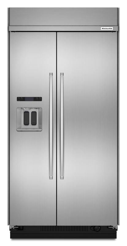 KitchenAid KBSD608E 48 Inch Wide 29.5 Cu. Ft. Energy Star Rated Built-In Side-by Stainless Steel Refrigerators Side By Side Fridge