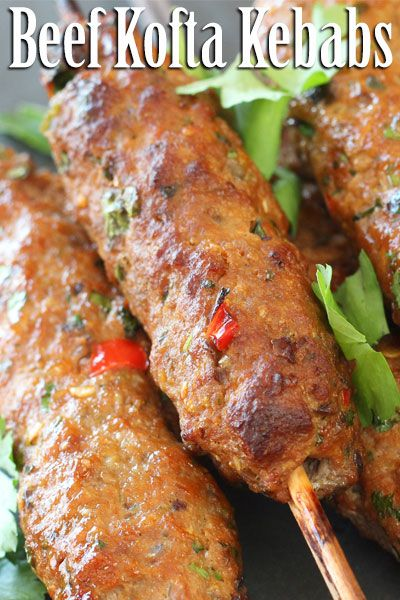 Baked Beef Kofta Kebabs Recipe Beef Kofta Recipe Minced Beef Recipes Kofta Kebab Recipe