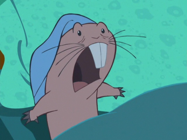 When your alarm clock goes off way too early. true story Rufus from Kim Possible.
