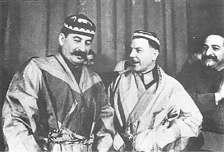 Stalin, Voroshilov and Ordzhonikidze.