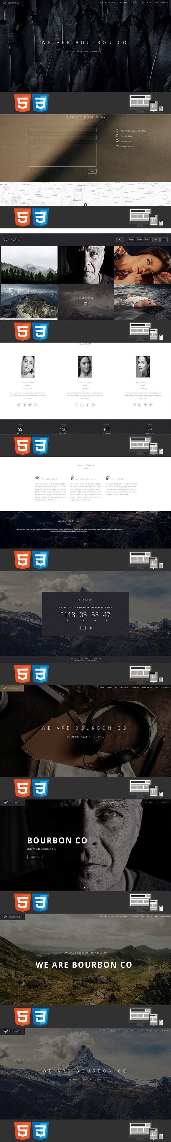742 best HTML/CSS Themes images on Pinterest | Template, Role models ...