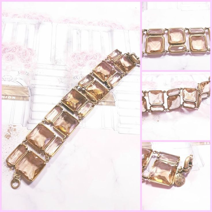 J.Crew Champagne Pink Faceted Crystal Chunky Geometric Bracelet Art Deco  #JCREW #Statement #femaleentrepreneur #Femaleownedbusiness #newyorkfashionweek #fashion #chic #bossbabe #Jcrew #fashionblogger  # #classic #timeless #J.crew #forsale #ebay   #aesthetic #shopping #shop  #aesthetic #artistic #art #artform #beauty   #jewelry