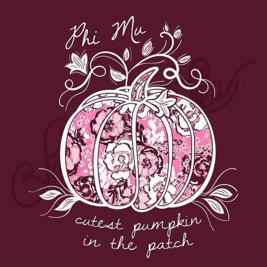 Sorority Social Phi Mu Cutest Pumpkin In The Patch Pattern South By Sea