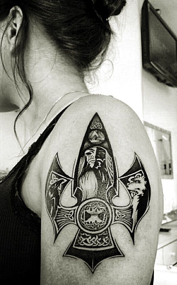 """"""" This is my tattoo. Gungnir: the spear that never misses the mark. Loki gift for the almighty Odin """""""