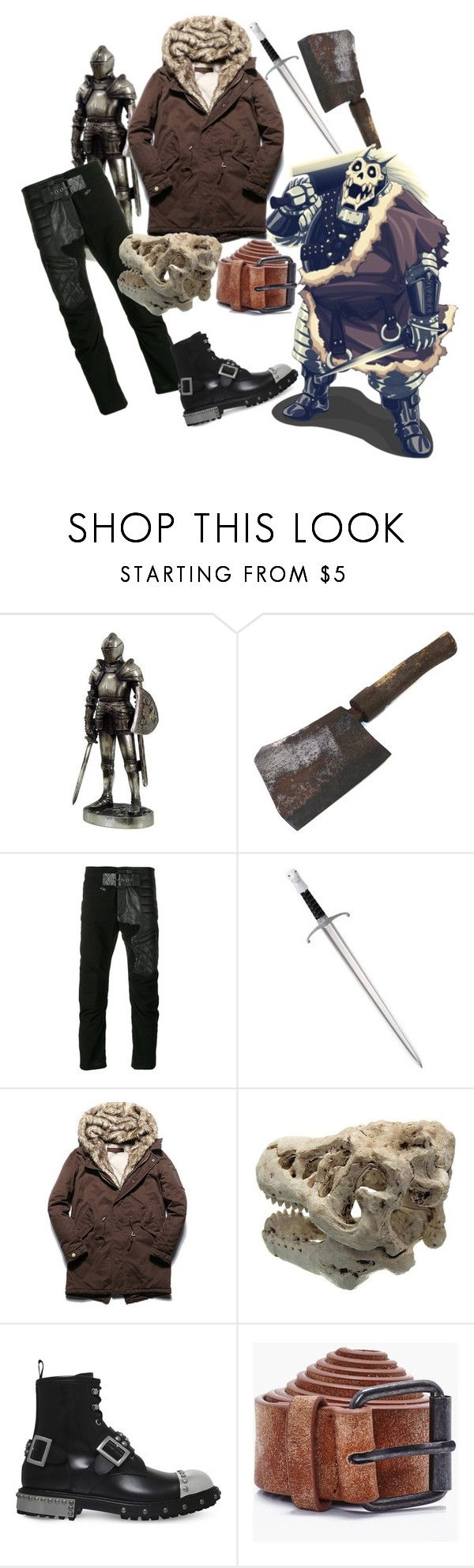 """""""Barry the Chopper"""" by m289651 on Polyvore featuring Haider Ackermann, Alexander McQueen, Boohoo, men's fashion and menswear"""