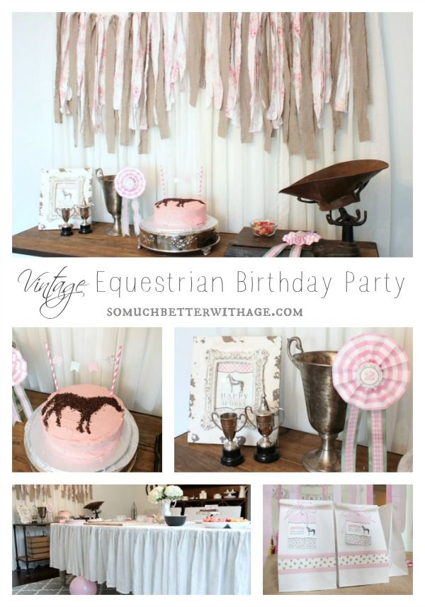 vintage equestrian birthday party somuchbetterwithage.com