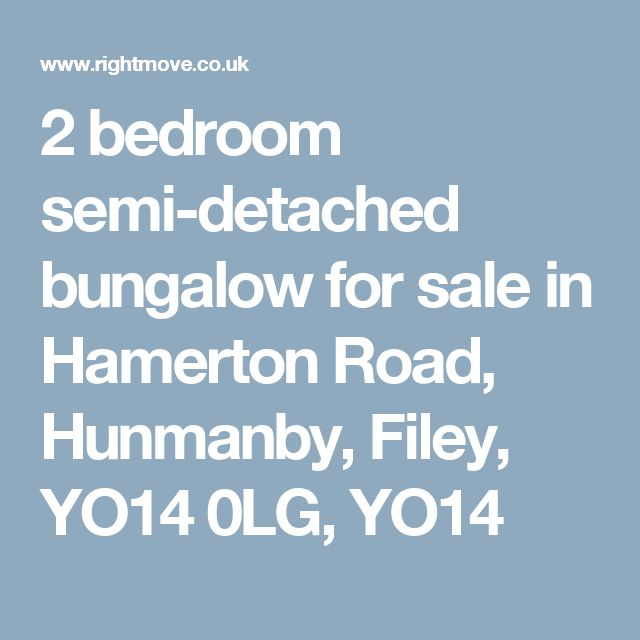 2 bedroom semi-detached bungalow for sale in Hamerton Road, Hunmanby, Filey, YO14 0LG, YO14