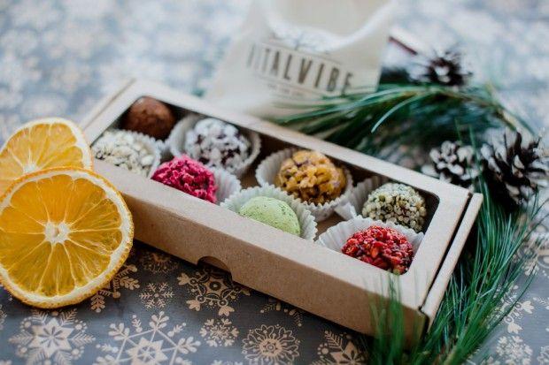 Colourful Raw Chocolate Box