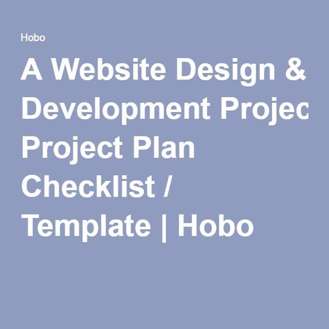 A Website Design \ Development Project Plan Checklist \/ Template - project checklist