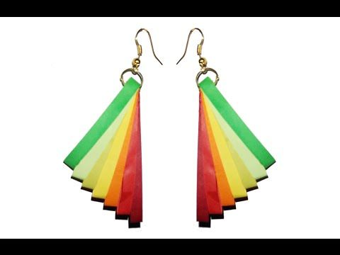 Quilling Earrings Designs Latest Model Quilling paper earrings Tutorial - YouTube
