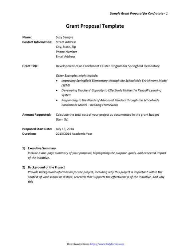 Free Grant Proposal Template from i.pinimg.com