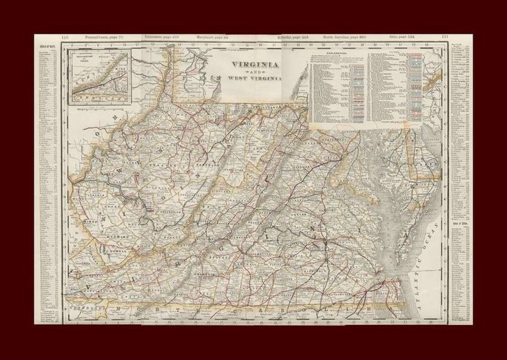 Best Antique Maps Images On Pinterest Antique Maps Old Maps - Detailed map of virginia