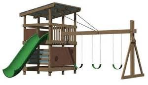 Swing Sets: Wooden Swing Set Kits, Playset Plans, and Swing Sets