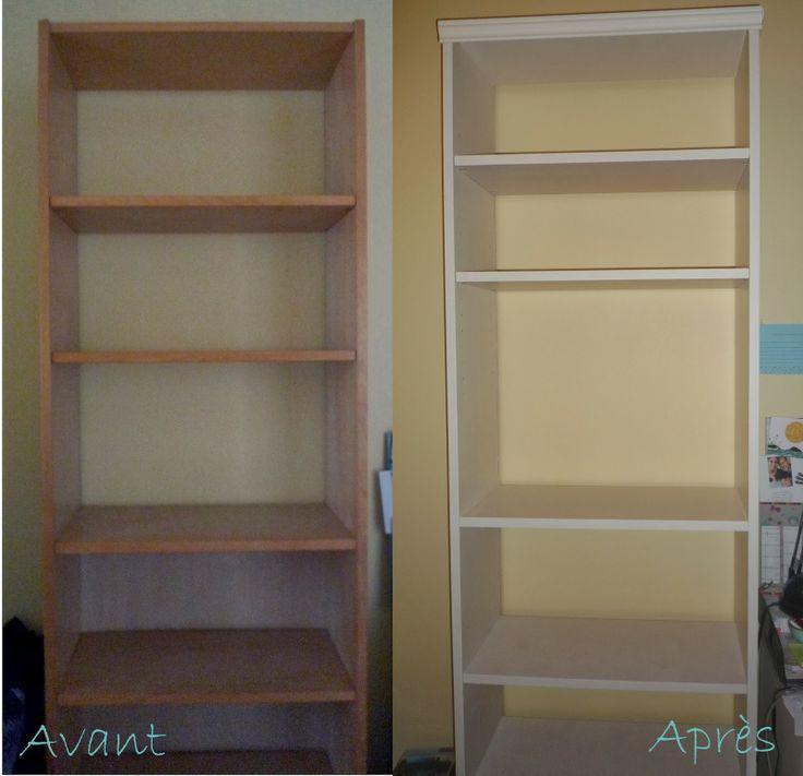 relooker une biblioth que billy ikea deco pinterest. Black Bedroom Furniture Sets. Home Design Ideas