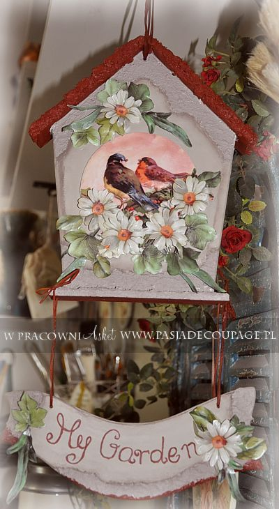 Decoupage 3d Domek Deco Pinterest Birds Decoupage