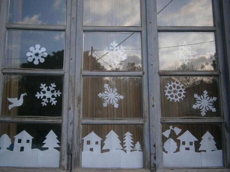 Winter window winter pinterest window and winter for Fensterdeko winter