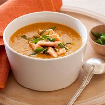Corn chowder with smoked trout