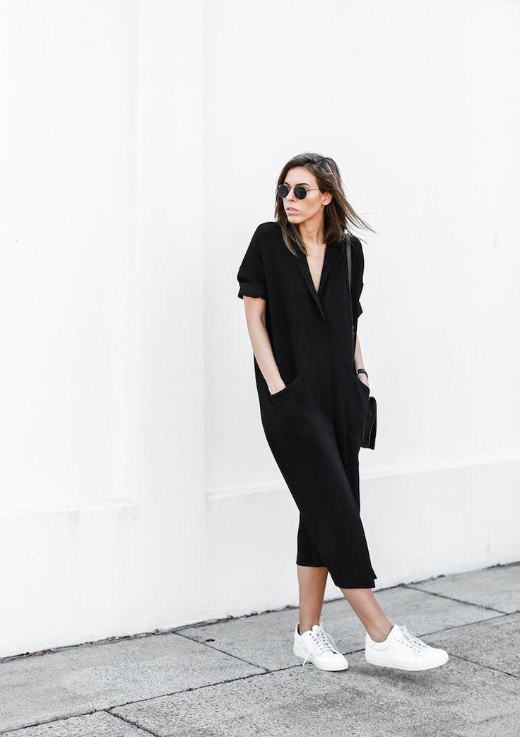 modern legacy blog ASOS duster coat black dress sneakers street style Alexander Wang Prisma clutch monochrome (3 of 13)