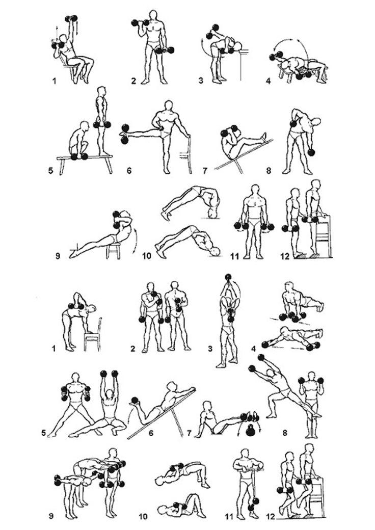 Упражнения для рук в картинках для дома