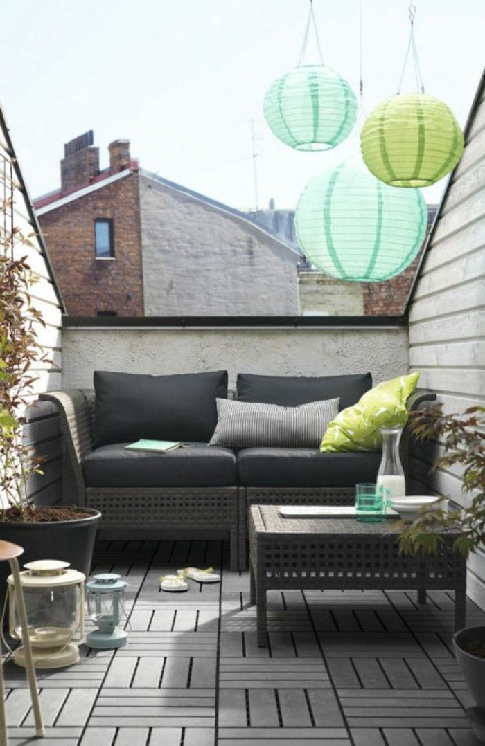 Roof terrace with ikea garden furniture set