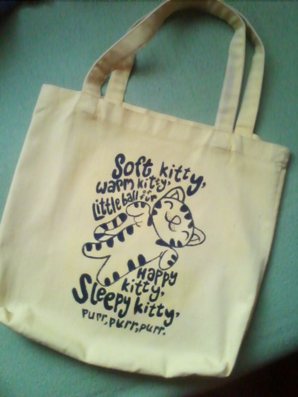 Soft kitty bag inspired by The big bang theory :p