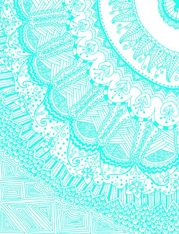 Fuckyeahpsychedelics Doodle Madness AQUA By Kayla