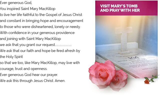 Prayer to Mary MacKillop