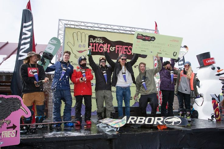 Chloe Kim and Yiwei Zhang win the 2014 #Burton High Fives Halfpipe Finals