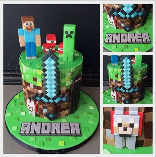 """narroz on Instagram: """"My first Minecraft cake. Thankfully it wasn't such a huge…"""