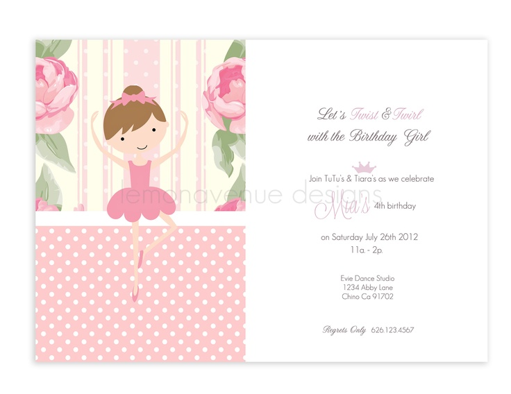 Ballet Invitation | #ballet #party #birthday #invitation