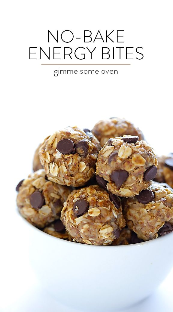 No-Bake Energy Bites -- quick and easy to make, naturally sweetened with honey, and SO delicious! Perfect for a quick breakfast, snack, or even a healthy dessert. Gluten-free / Vegan.   gimmesomeoven.com