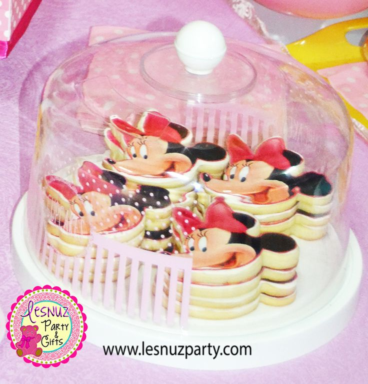 Cumpleaños Minnie Mouse galletas temáticas Lesnuzparty - Minnie Mouse birthday cookies themed