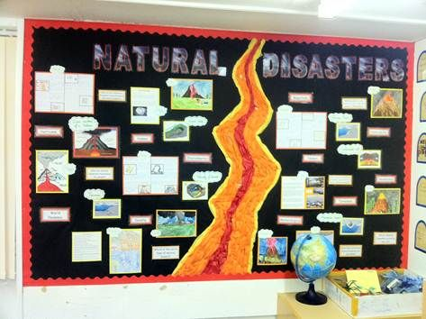 Natural Disasters display, Paul Summers Abbey Gates Primary UK