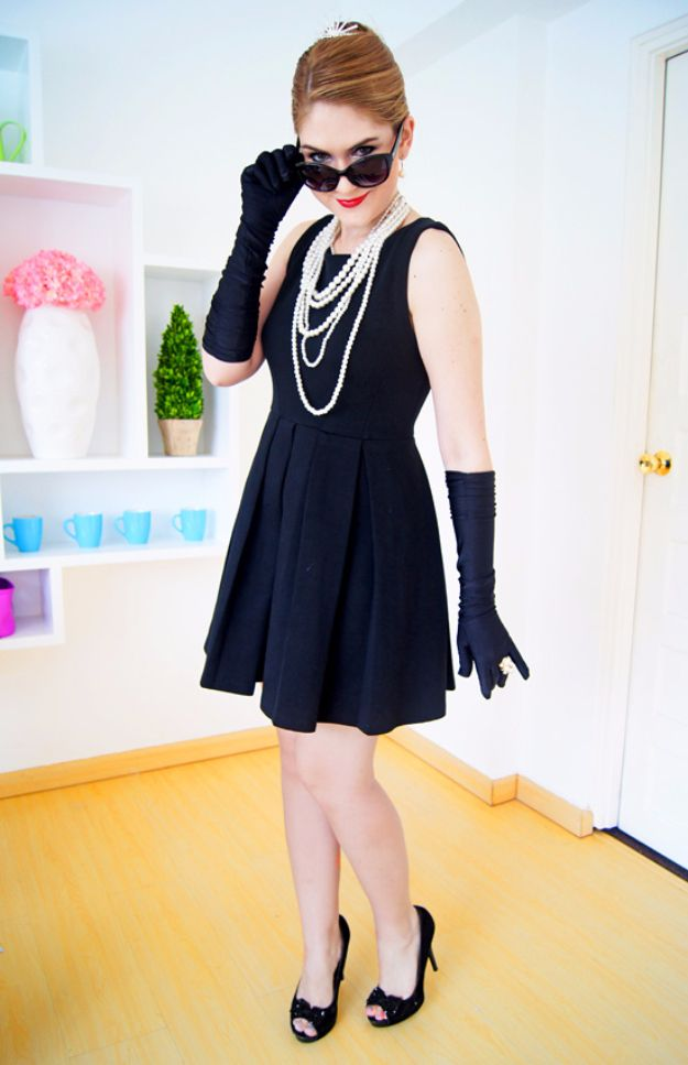 Best DIY Halloween Costume Ideas - Audrey Hepburn Costume - Do It Yourself Costumes for Women, Men, Teens, Adults and Couples. Fun, Easy, Clever, Cheap and Creative Costumes That Will Win The Contest http://diyjoy.com/best-diy-halloween-costumes