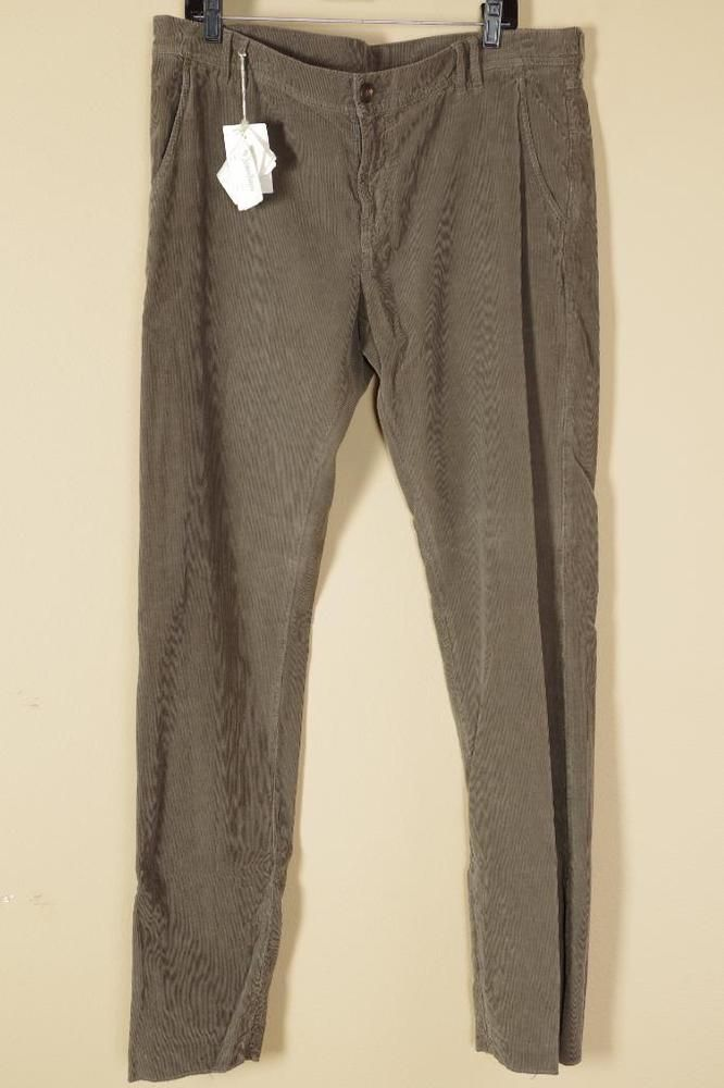 Brunello Cucinelli Brown Corduroy Pants 56 | 40 New with Tags Jeans #BrunelloCucinelli #Corduroys