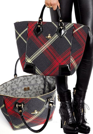 Perfect bag to take Christmas shopping to put gift purchases -- Vivienne Westwood Winter Tartan Shopper