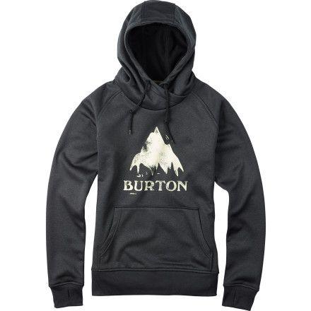 Burton Heron Pullover Hoodie - Women's True Black Heather