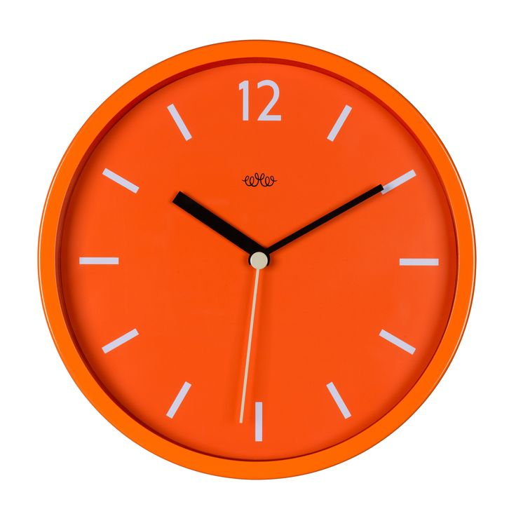 Wild Wood Goldfish Orange Wall Clock: A contemporary & colourful retro-style wall clock that will look the part in any room. Add a touch of colour to your walls. Available in four contemporary colours: Concrete Grey, English Mustard, Goldfish Orange & Swedish Green.
