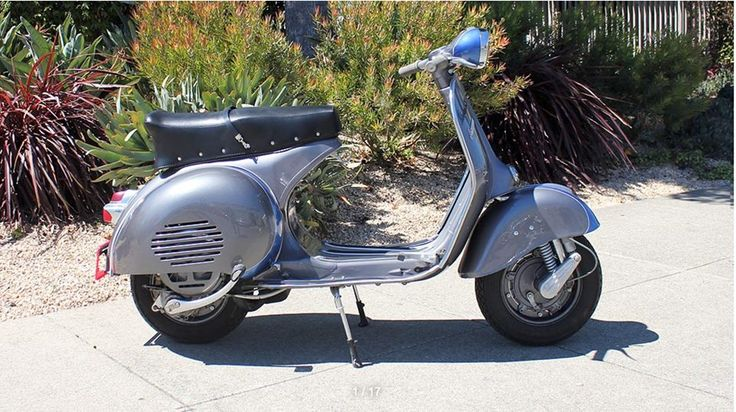 The 1959 Vespa GS 150 Cushman is cool, customized and collectable. It is also very afforable.  Available for viewing or sale at our San Francisco showroom.  #VintageCollector #Scooterholic #RestoredScooter #SanFrancisco #SFYelp #VintageScooterStore #VintageScooterServices  #VintageScooter