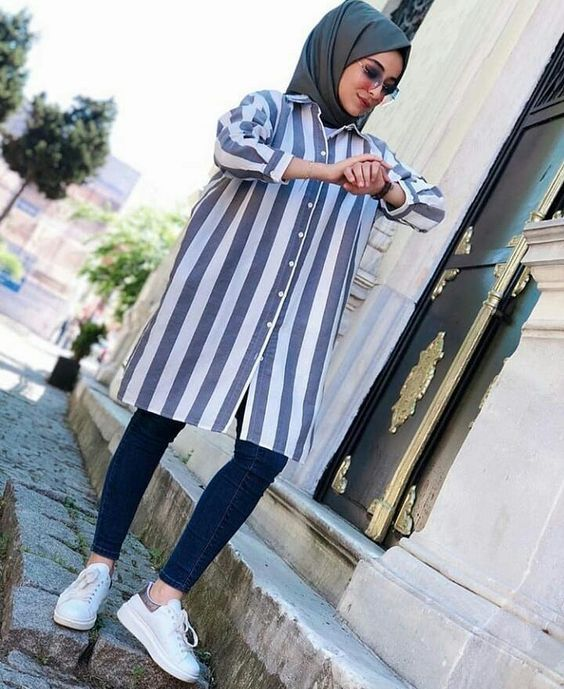 Plaid and Stripped Dress Inspiration for Hijabies – Girls Hijab Style & Hijab Fashion Ideas