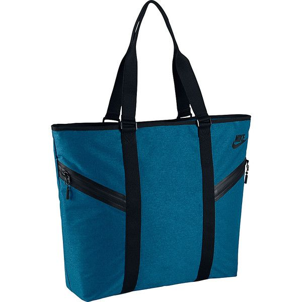 Nike Azeda Tote Premium - Industrial Blue/Black/Black - All Purpose... ($59) ❤ liked on Polyvore featuring bags, handbags, tote bags, blue, blue purse, handbags tote bags, nike handbags, blue tote and nike tote