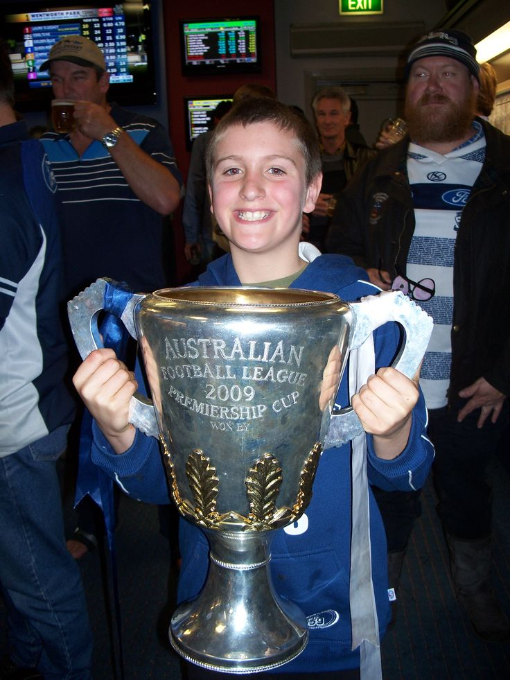 Brandon with the 2009 cup