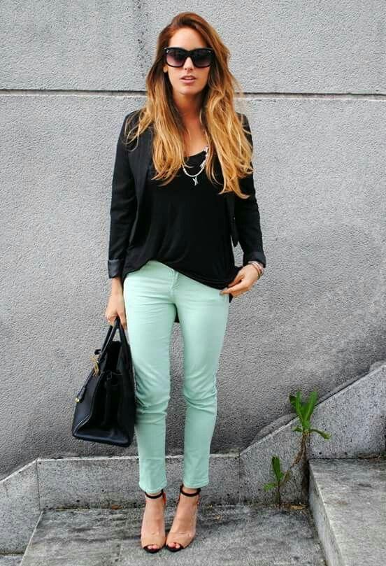 jeans menta
