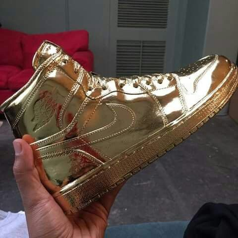 All Gold Jordan One's