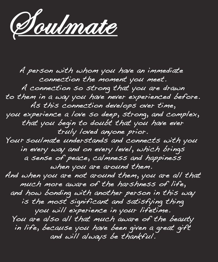 I love this quote but I didn't like how it was written so I made this one myself! 'Soulmate'