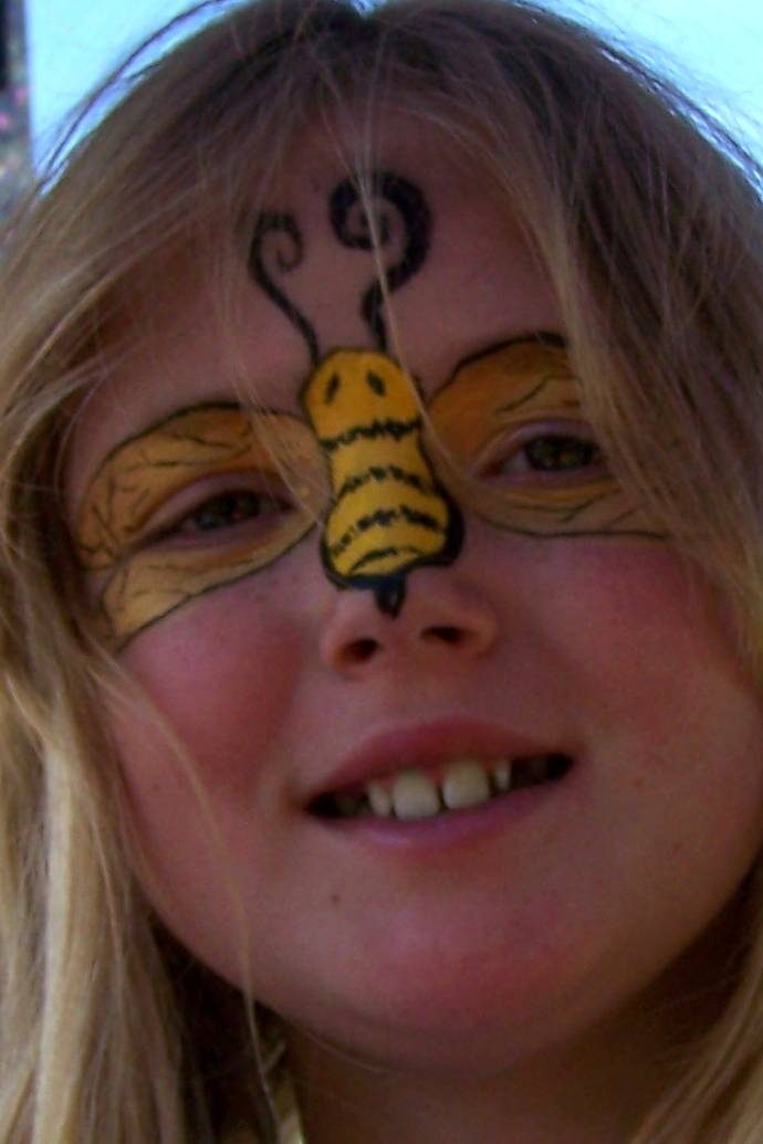 Simple Bumble Bee Face Paint