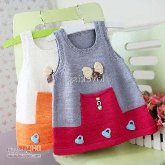 Wholesale Waistcoat For Kids Girls Waistcoats Baby Sweaters Knitting Patterns Wool Sweaters Round Neck Vests