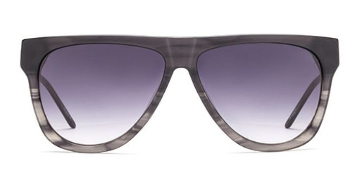 CO-PILOT I Classic pilot shape given a fresh outing in acetate. Gradient black.